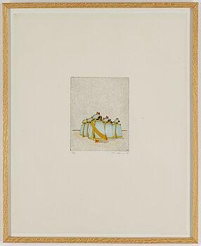 STEN EKLUND, etching with colour, 1981, signed 10/30.