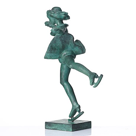 "Carl milles, ""skridskoprinsessan"" (=the skater princess)."