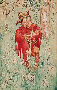 """331. John Bauer, """"En liten prinsapöjk"""" (A little prince)."""