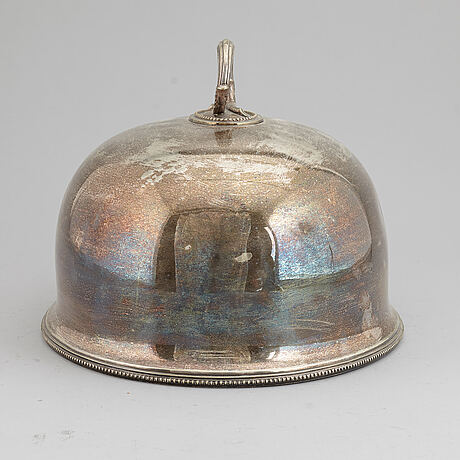 A silver plated hood, 20th century.