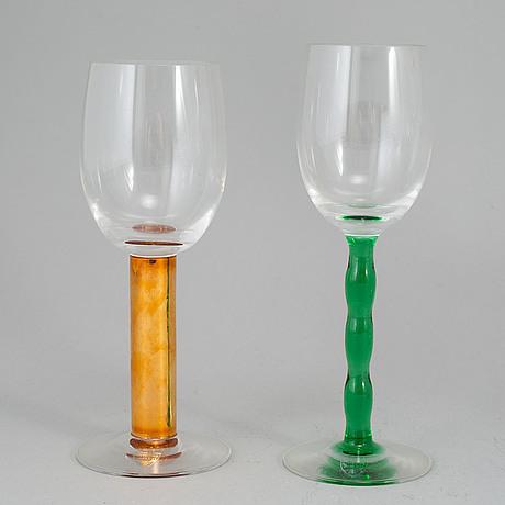 Gunnar cyrÉn, 'nobel', part glass service, orrefors (13 pieces).