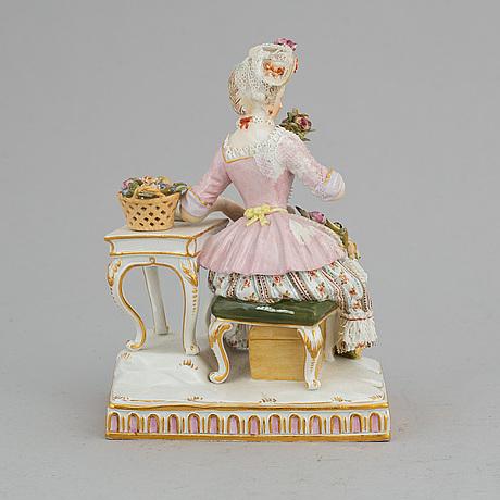 A meissen porcelain figurine, late 19th century.