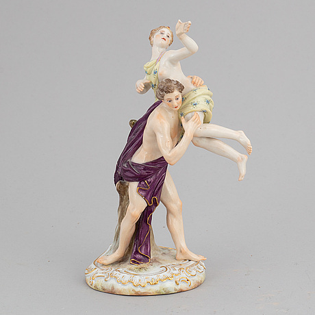 A meissen porcelain figurine group, late 19th century.