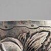Skrin med lock, silver, otydliga stämplar, troligen Österrike, 1800-tal.