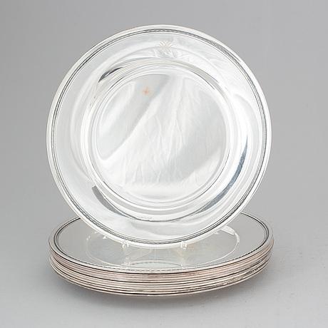 Gab, 12 silver plates, stockholm 1945.