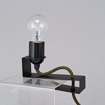 "ANDREAS MARTIN-LÖF, a ""Clamp Lamp, Studio Item No 01, Black Edition"", AML Studio 2014. Limited edition of ca 50."