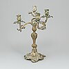 A rococo style silver plated candelabra, 19-20th century.