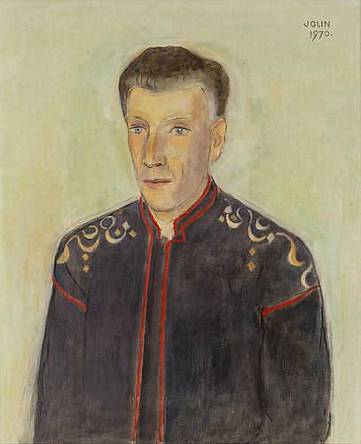 Einar jolin, oil on canvas, signed and dated 1970.