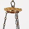 A swedish empire 19th century six-light hanging-lamp.