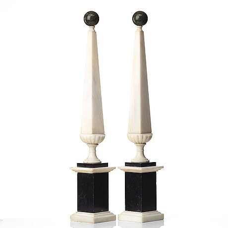 A pair of 19 th century presumably italien obelisks.
