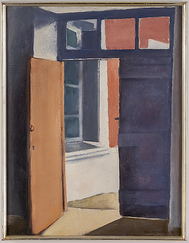 BjÖrn hallstrÖm, oil on canvas, signed and dated -76.