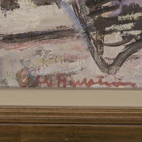 Eric hallstrÖm, oil on canvas, signed.