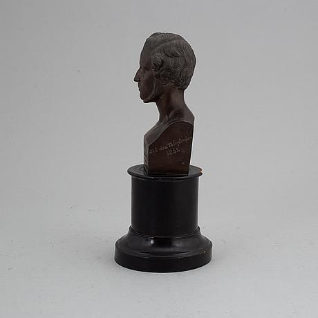 Byst, patinerad zink, 1800-tal.