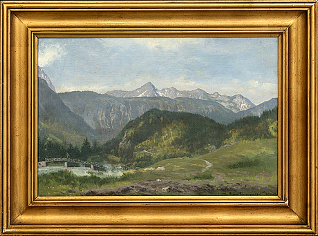 Simon simonsen, a signed and dated oil painting on canvas.