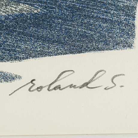 Roland svensson, lithograph in colours, signed 307/360.