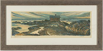 ROLAND SVENSSON, colour lithograph, signed and no. 242/250.