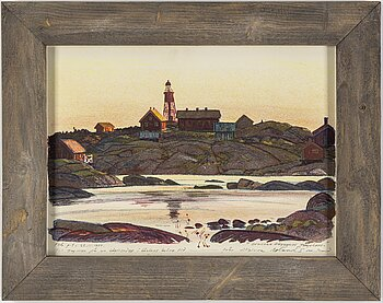 ROLAND SVENSSON, colour lithograph. Signed and numbered 1:sta p.t - 22.11.1974,