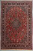 A carpet, semi-antique kashan, ca 382,5 x 259 cm.