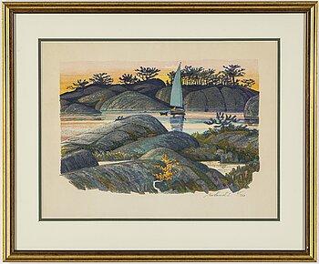 ROLAND SVENSSON,colour lithograph, signed and no 61/360.