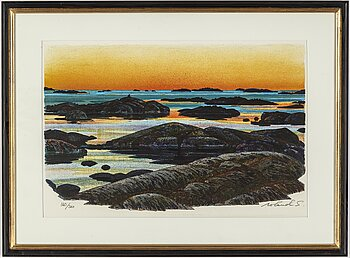 ROLAND SVENSSON, colour lithograph. Signed and numbered 160/360.