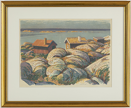 Roland svensson, lithograph in colours, signed 184/260.