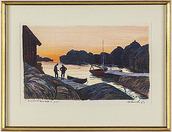 ROLAND SVENSSON, colour lithograph. Signed and numbered p.t.