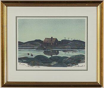 ROLAND SVENSSON, colour lithograph, signed and no. 9/275.