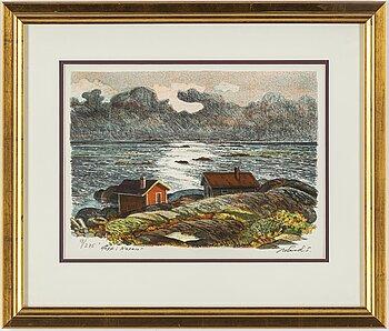 ROLAND SVENSSON, colour lithograph, signed and nr. 9/275.