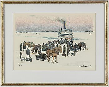 ROLAND SVENSSON, colour lithograph. Signed and numbered 307/360.