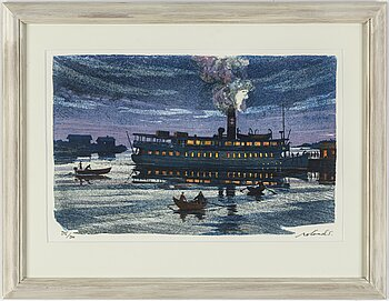 ROLAND SVENSSON, colour lithograph. Signed and numbered 345/360.