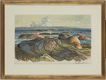 ROLAND SVENSSON, colour lithograph, signed and no. 353/360.