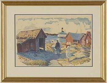 ROLAND SVENSSON, colour lithograph, signed and no. 6/310.