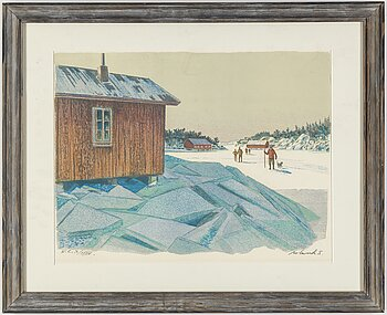 ROLAND SVENSSON, colour lithograph. Signed and numbered H.C. X/XXXV.