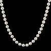 Cultured pearl necklace, clasp.
