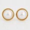 Mabe pearl earrings.
