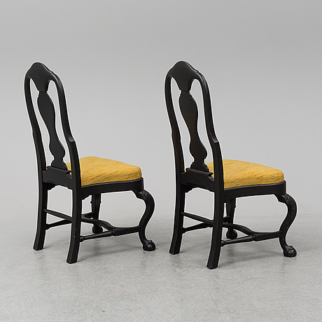 Six baroque style chairs, mid 20th century.