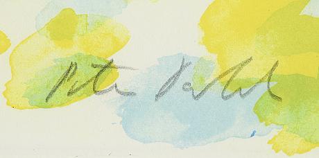 Peter dahl, färglitografi, signerad, provtryck.