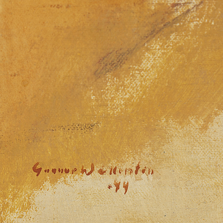 Gunnar wallentin, oil on canvas, signed and dated -44.