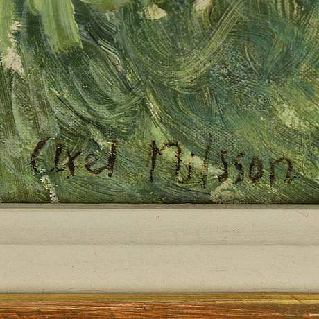 Axel nilsson, oil on canvas, signed.
