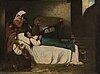 Severin falkman, olja på duk, signerad och daterad 1870.