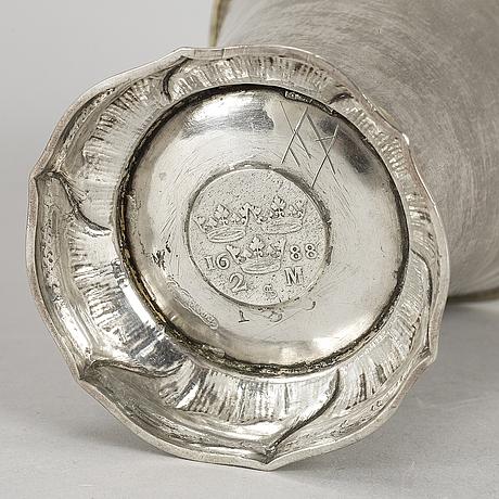 A second half of the 18th century silver beaker by carl fahlberg uppsala.