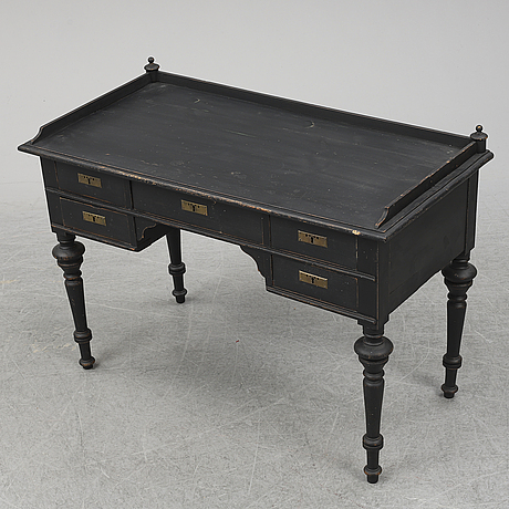 A painted desk, circa 1900.