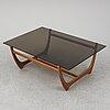 An 'arabesk' rosewood coffee table, wards ateliéer, tibro, circa 1965.