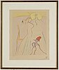Salvador dalÍ, etching colored with stencil, signed and numbered xxxv/lxxv.