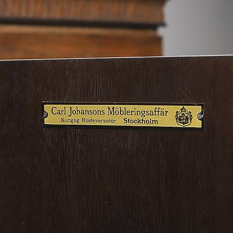An inlay cabinet, carl johansons möbleringsaffär, 1920/30's.