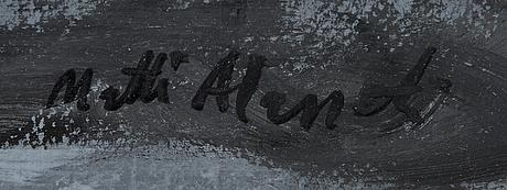 Matti alapoti, öljy levylle, signeerattu.