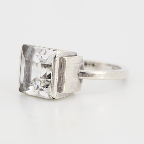 Wiwen nilsson, a rock crystal ring made in lund, 1943.