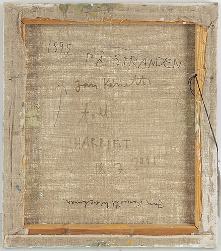 Jan kenneth weckman, mixed media on canvas, signed and dated 1995 verso.