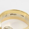 Brilliant-cut diamond 18k gold ring.
