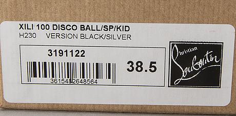 "Apair of ""xili disco balls"" sandals, christian louboutin, storlek 38,5."